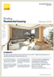 Briefing - Residential leasing